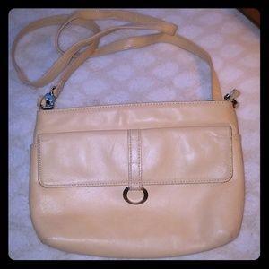 Vintage Tan Perlina crossbody purse
